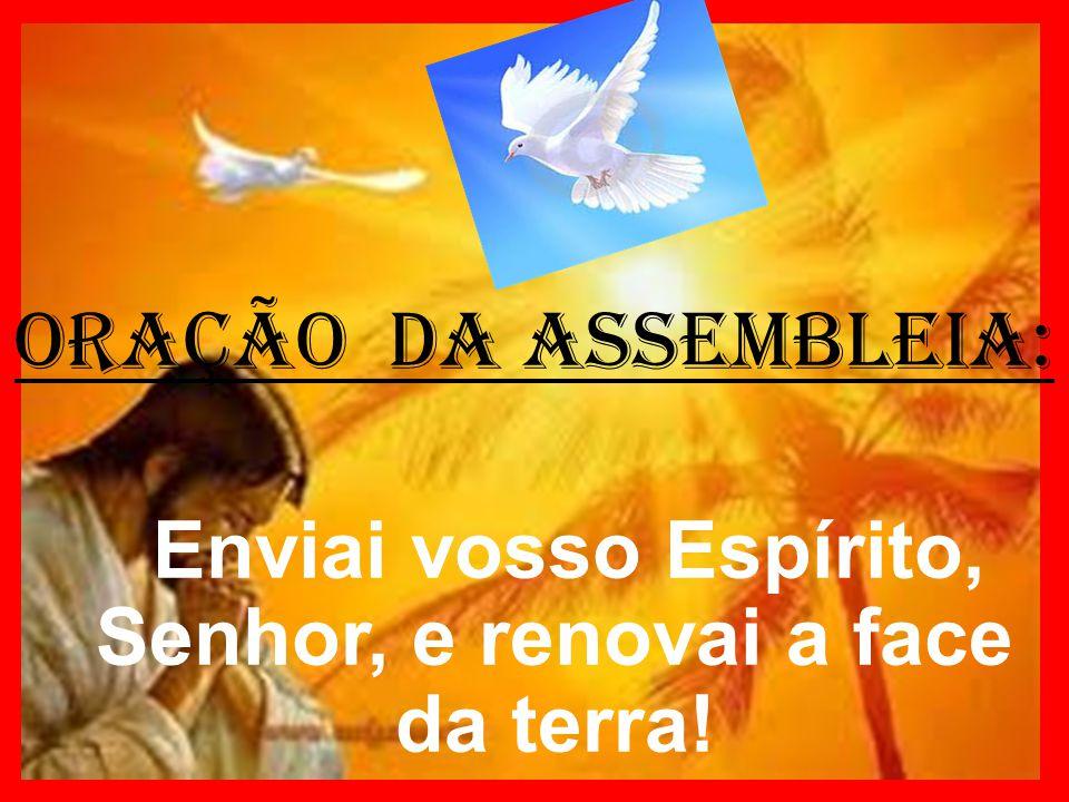 ORAÇÃO DA ASSEMBLEIA: Enviai vosso Espírito, Senhor, e renovai a face da terra!