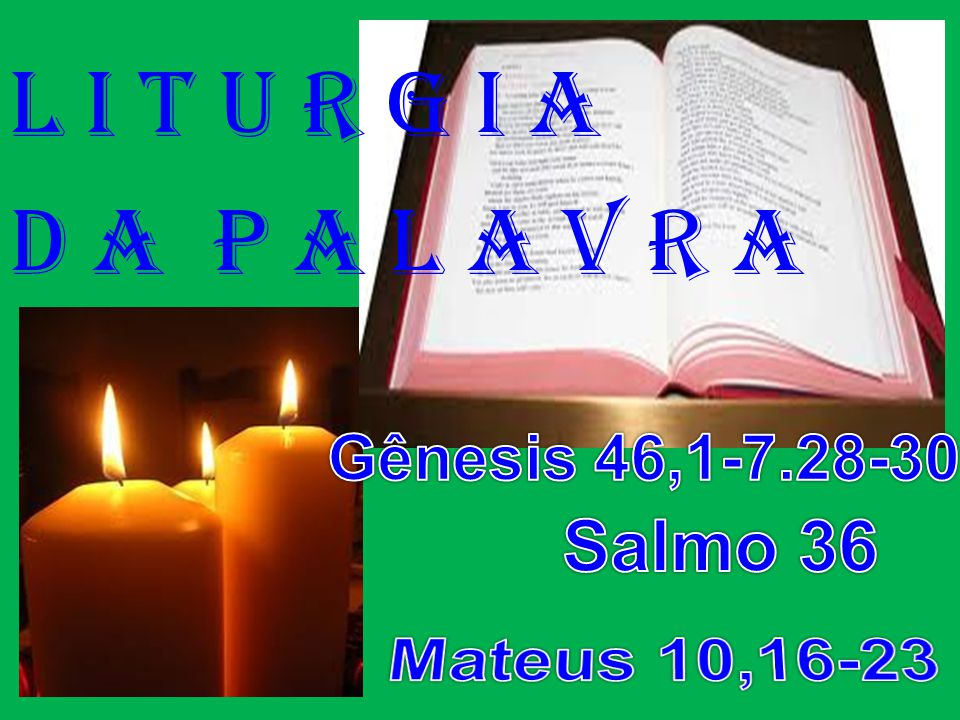 ACLAMAÇÃO AO EVANGELHO: (Mateus 10,16-23) Aleluia.
