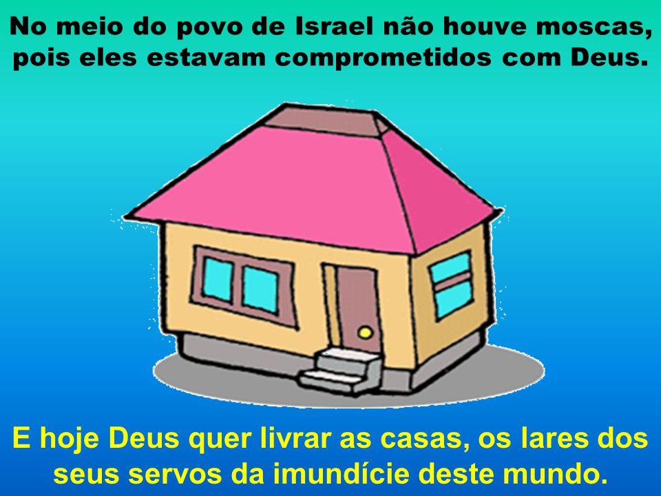 No meio do povo de Israel não houve moscas, pois eles estavam comprometidos com Deus. E hoje Deus quer livrar as casas, os lares dos seus servos da im