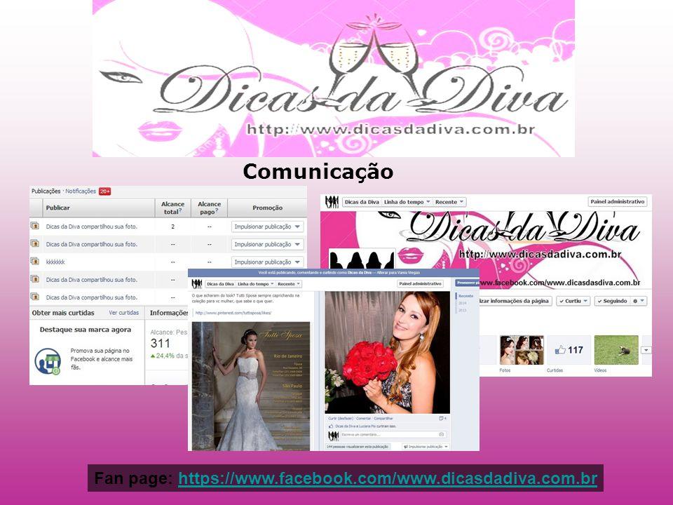 Comunicação Fan page: https://www.facebook.com/www.dicasdadiva.com.brhttps://www.facebook.com/www.dicasdadiva.com.br