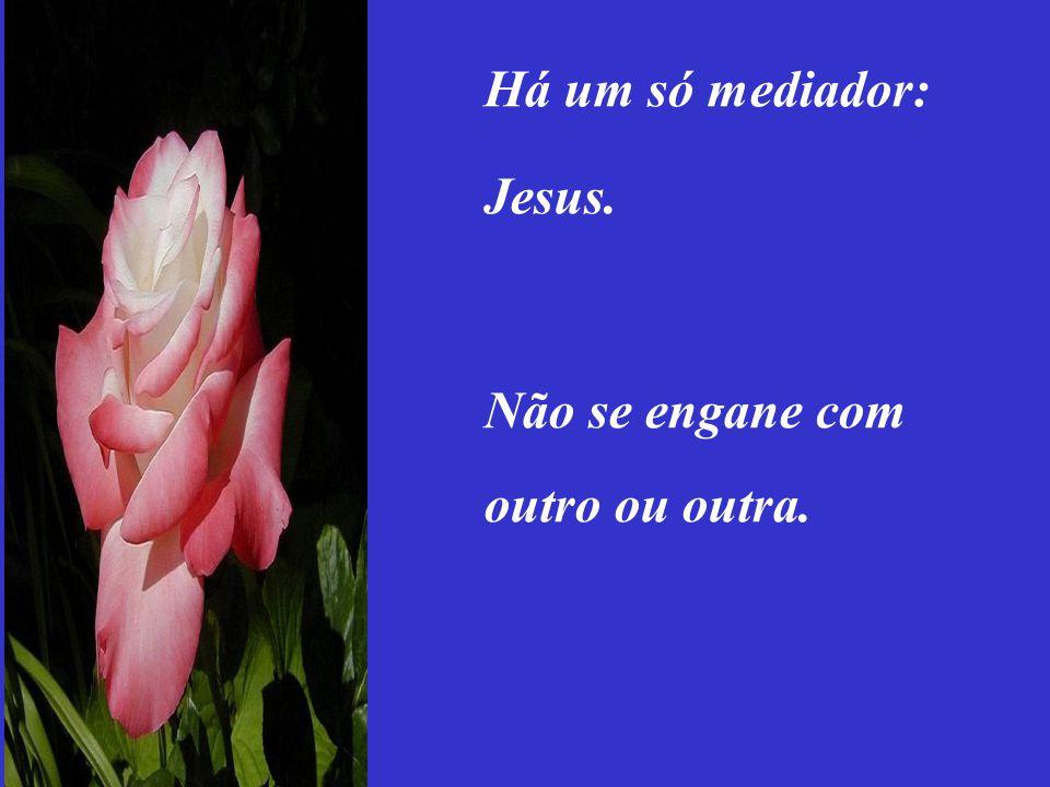 I Tim. 2:5 Porque há um só Deus, e um só Mediador entre Deus e os homens, Cristo Jesus.