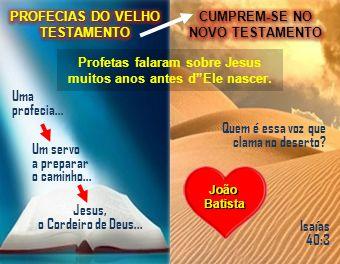 Profetas falaram sobre Jesus muitos anos antes dEle nascer. Quem é essa voz que clama no deserto? Isaías 40:3 JoãoBatista Jesus, o Cordeiro de Deus...