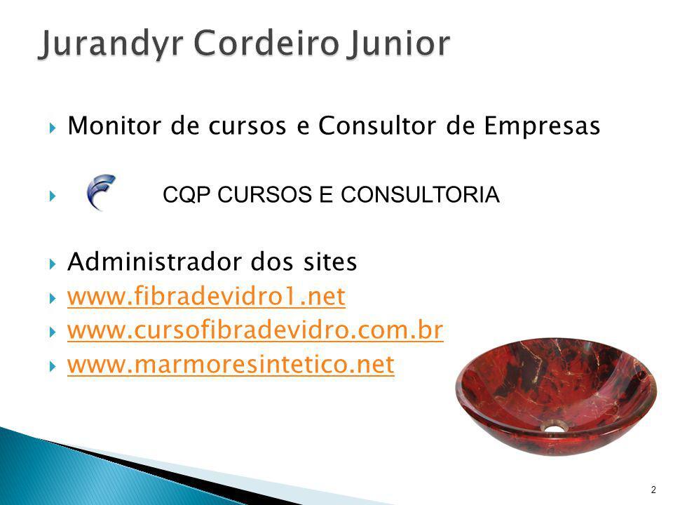 Monitor de cursos e Consultor de Empresas CQP CURSOS E CONSULTORIA Administrador dos sites www.fibradevidro1.net www.cursofibradevidro.com.br www.marm
