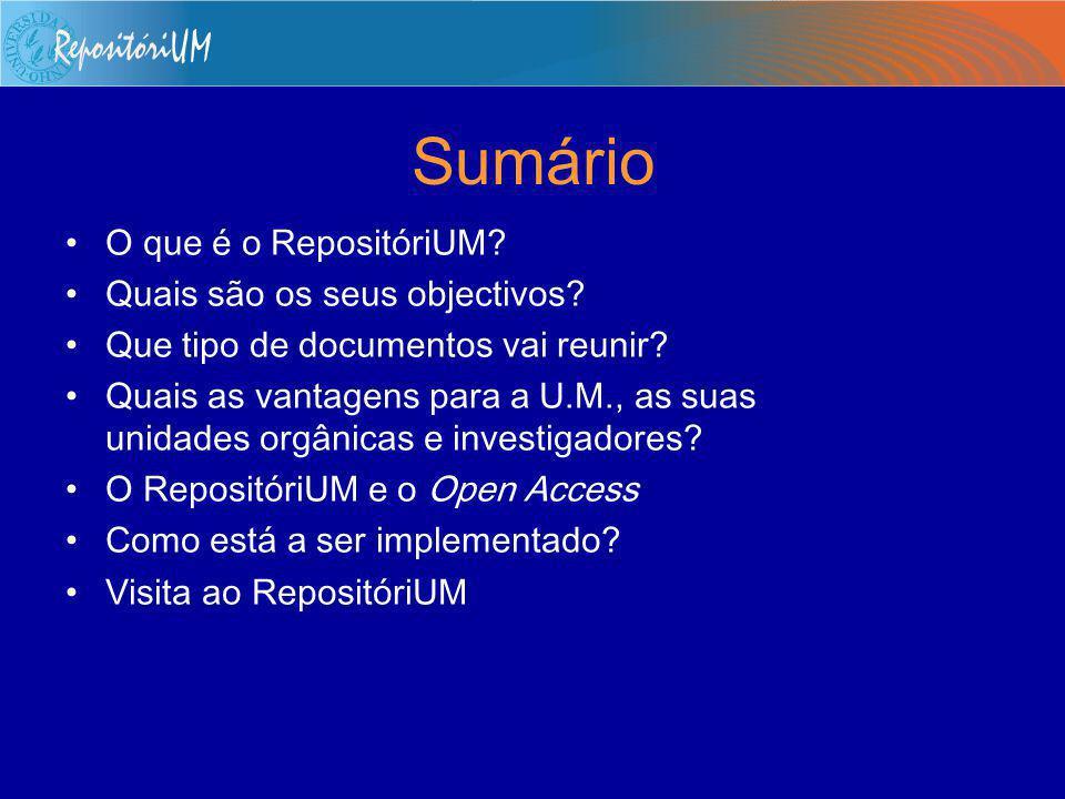 Repositório Institucional da Universidade do Minho RepositóriUM Eloy Rodrigues – eloy@sdum.uminho.pteloy@sdum.uminho.pt