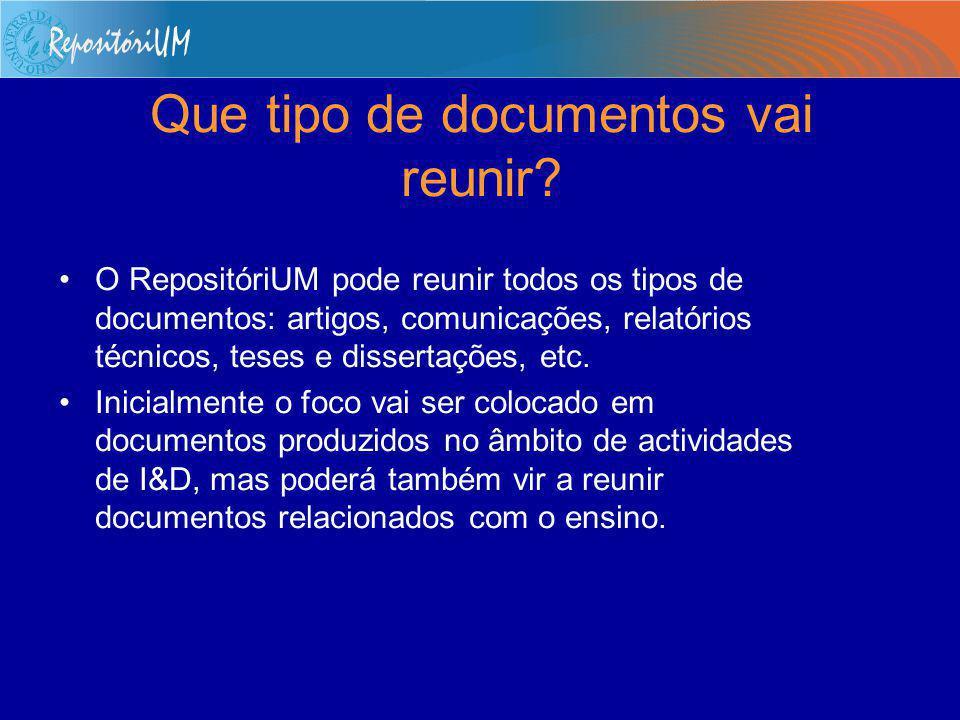 Quais são os objectivos do RepositóriUM .