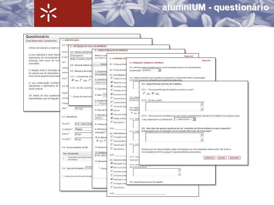 alumniUM - questionário