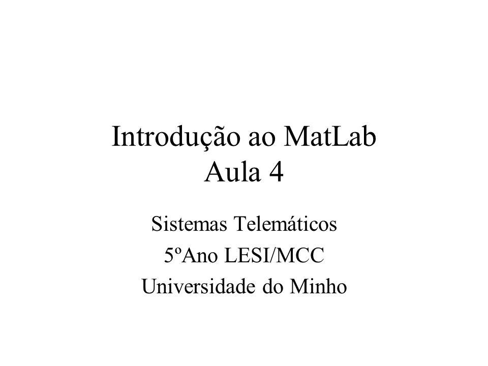 Ficheiros M O MATLAB necessita que o ficheiro M seja armazenado ou na directoria de trabalho ou numa directoria que é especificado na sua directoria de trabalho.