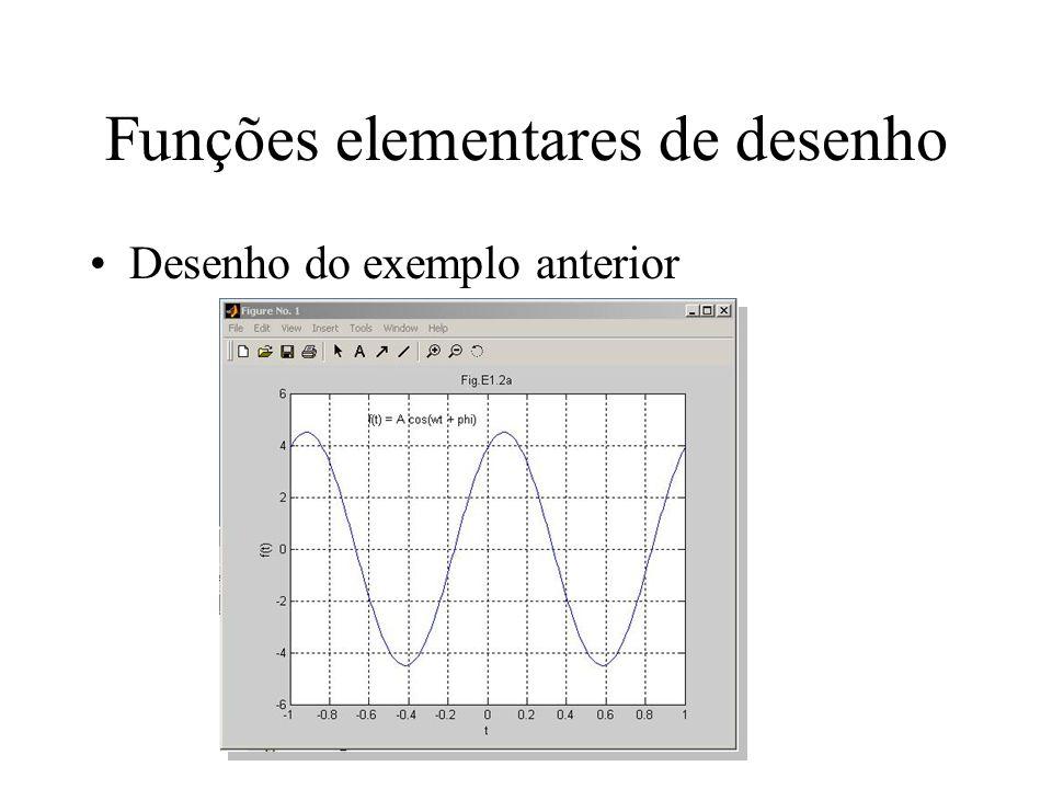 Funções elementares de desenho Desenho do exemplo anterior