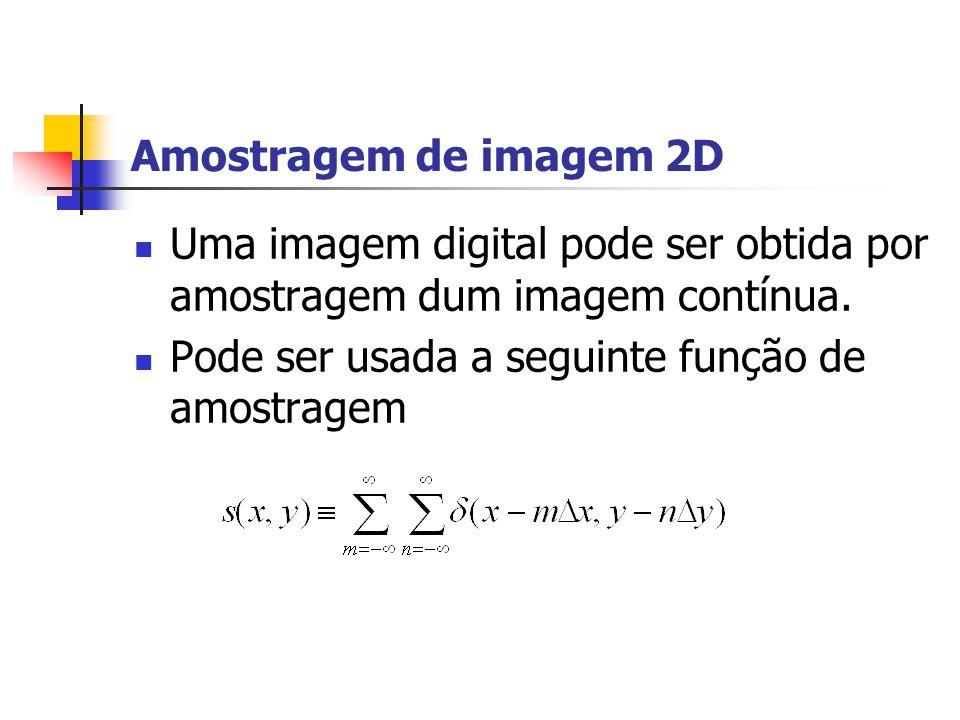 O que é uma imagem? Uma imagem pode ser definida como uma uma função de intensidade de luz i(x,y,t) onde a amplitude da função em qualquer coordenada