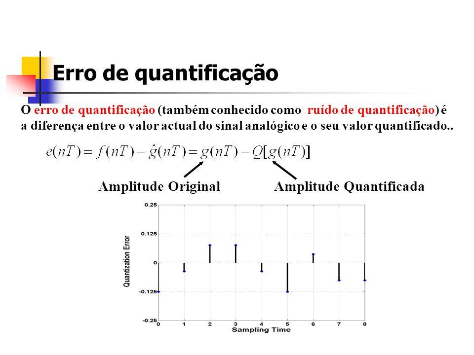 Sinais originais e quantificados