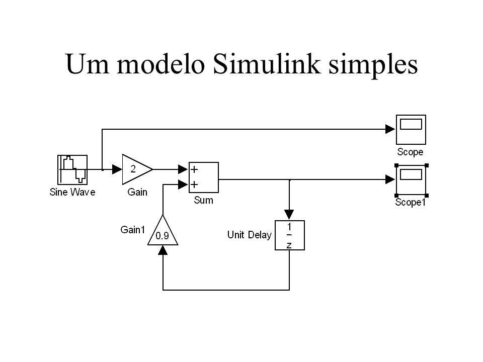 Um modelo Simulink simples