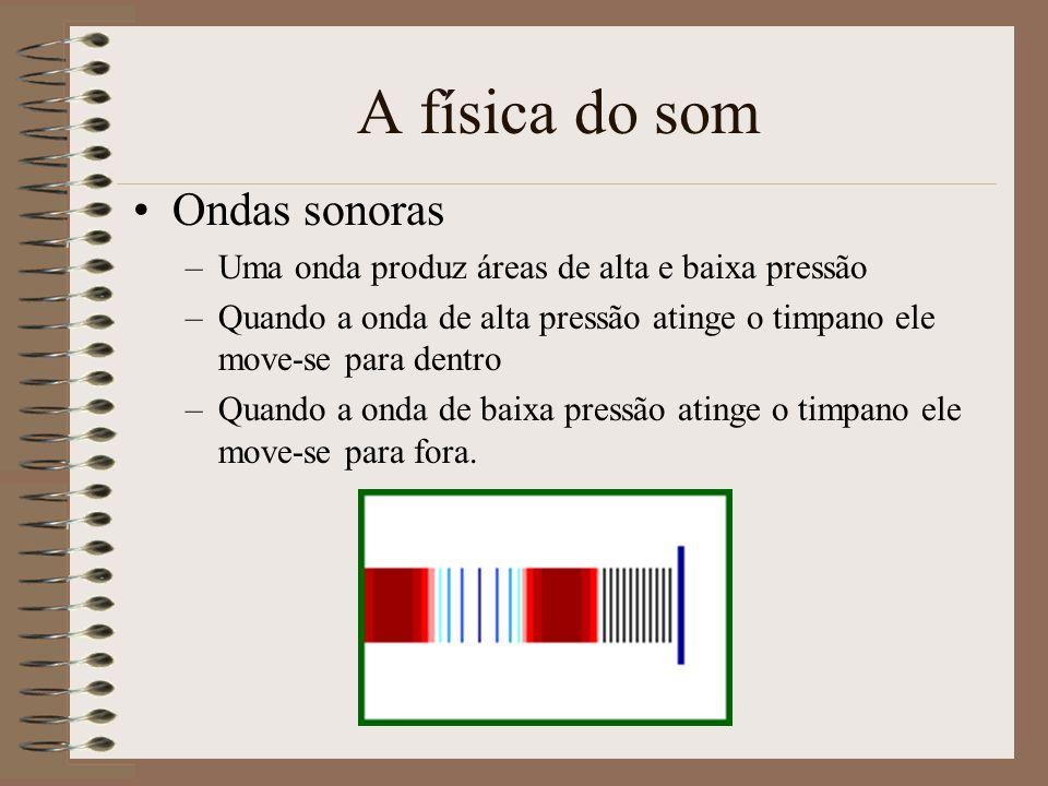 A física do som Ondas sonoras –Uma onda mecânica é uma perturbação que viaja através dum meio transportando energia dum local para outro.