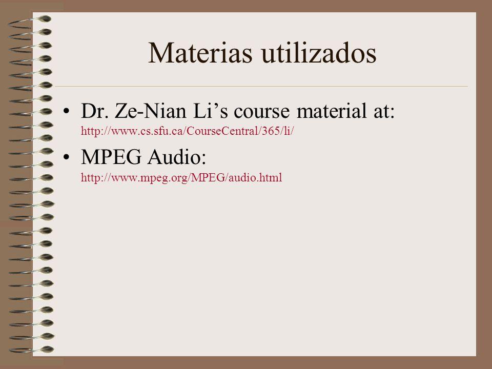 Materias utilizados Dr.