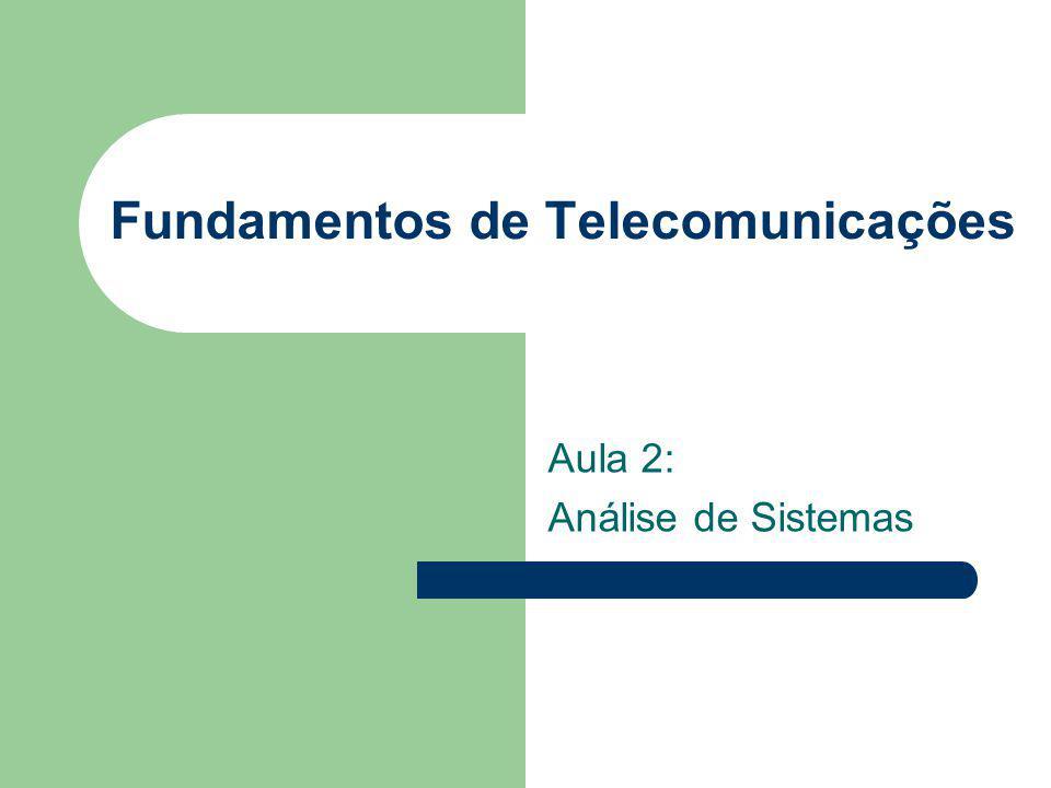 Fundamentos de Telecomunicações Aula 2: Análise de Sistemas