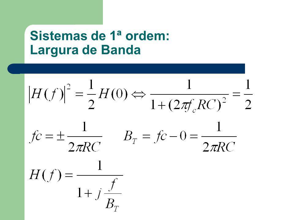 Sistemas de 1ª ordem: Largura de Banda