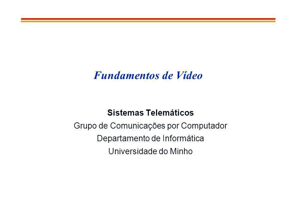 Fundamentos de Vídeo Sistemas Telemáticos Grupo de Comunicações por Computador Departamento de Informática Universidade do Minho