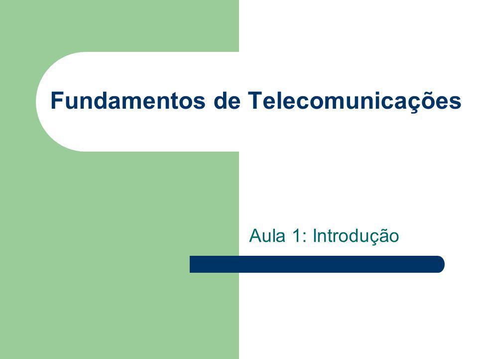 Fundamentos de Telecomunicações Aula 1: Introdução