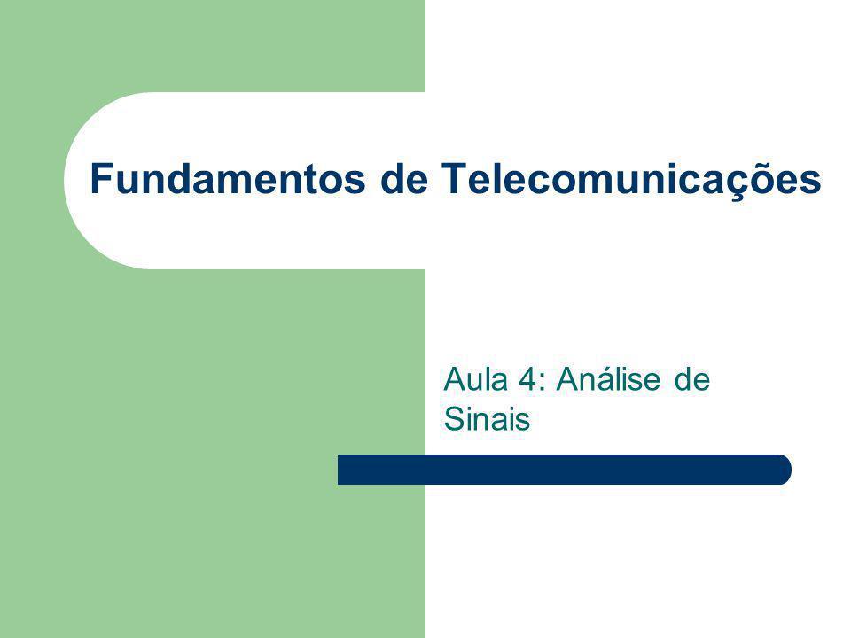 Fundamentos de Telecomunicações Aula 4: Análise de Sinais