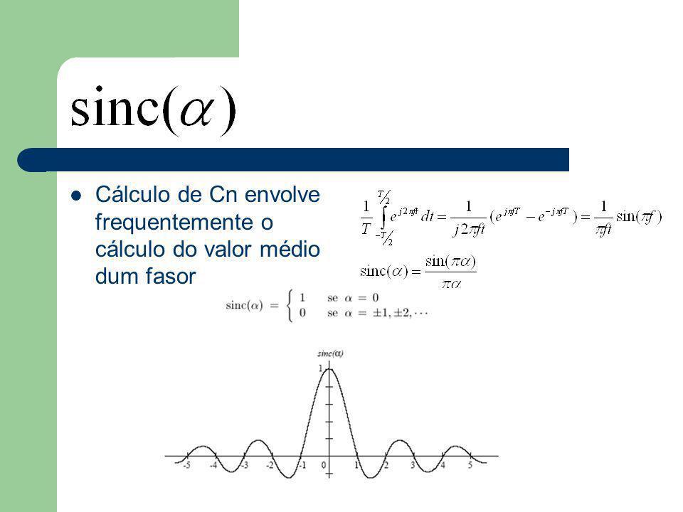 Cálculo de Cn envolve frequentemente o cálculo do valor médio dum fasor