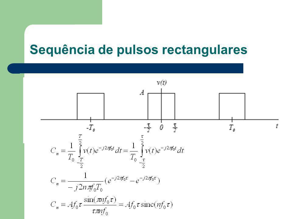Sequência de pulsos rectangulares