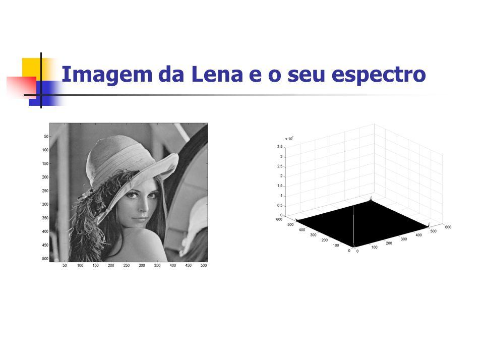 Imagem da Lena e o seu espectro