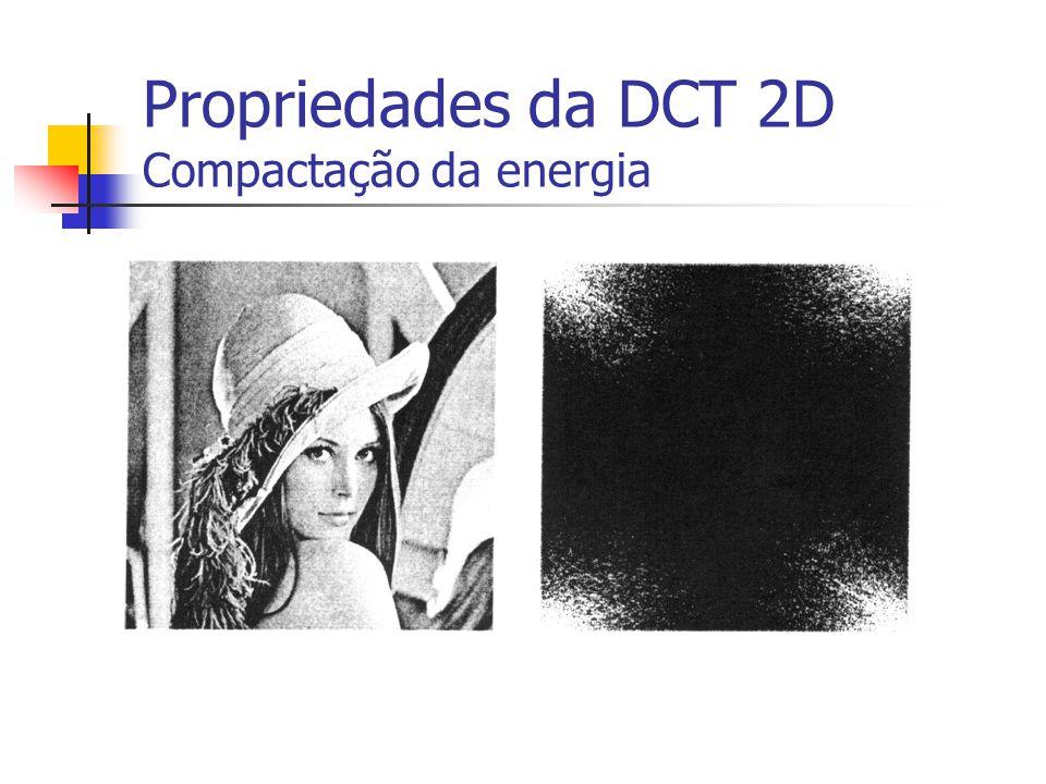 Propriedades da DCT 2D Compactação da energia Figura 5.18