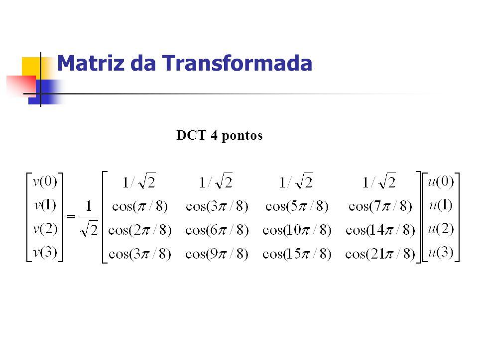 Matriz da Transformada DCT 4 pontos