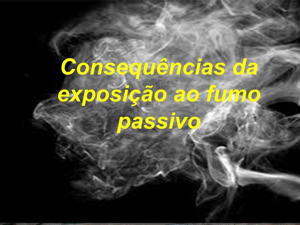 Consequências da exposição ao fumo passivo