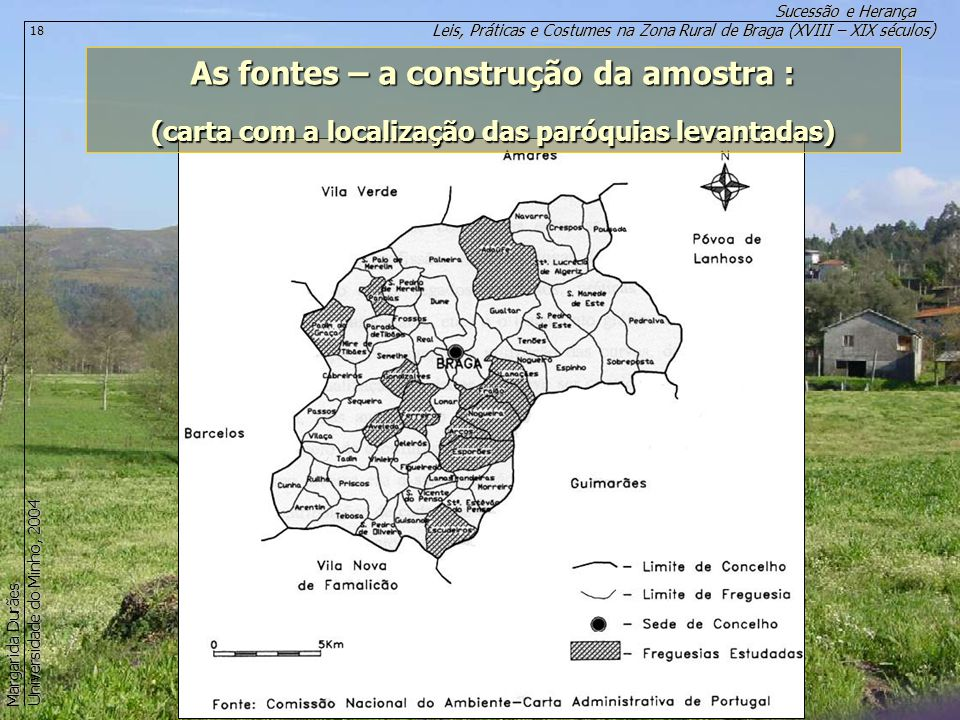 Leis, Práticas e Costumes na Zona Rural de Braga (XVIII – XIX séculos) Sucessão e Herança Margarida Durães Universidade do Minho, 2004 18 As fontes –