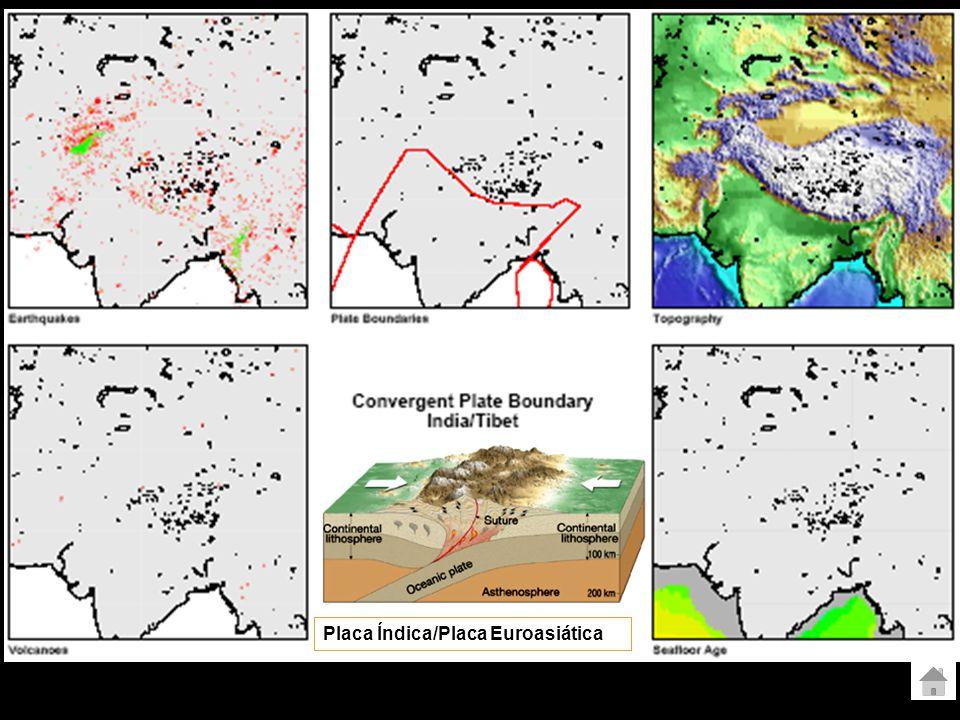 Limite convergente oceânica - oceânica Arcos de ilhas fossa Placa das Filipinas/Placa Euroasiática