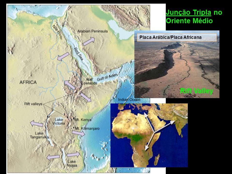 Junção Tripla no Oriente Médio Rift Valley Placa Arábica/Placa Africana