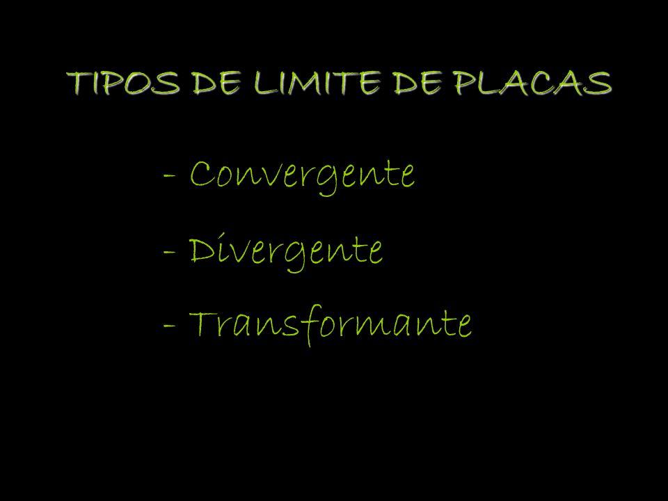 TIPOS DE LIMITE DE PLACAS - Convergente - Divergente - Transformante