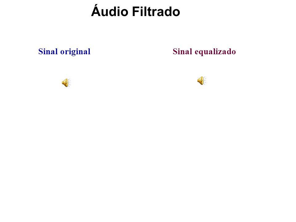 VARIAÇÃO DO GANHO NAS DIFERENTES BANDAS Para o sinal equalizado