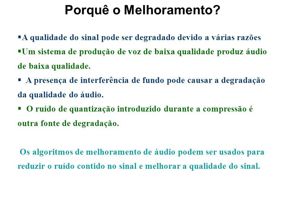 MELHORAMENTO DO ÁUDIO