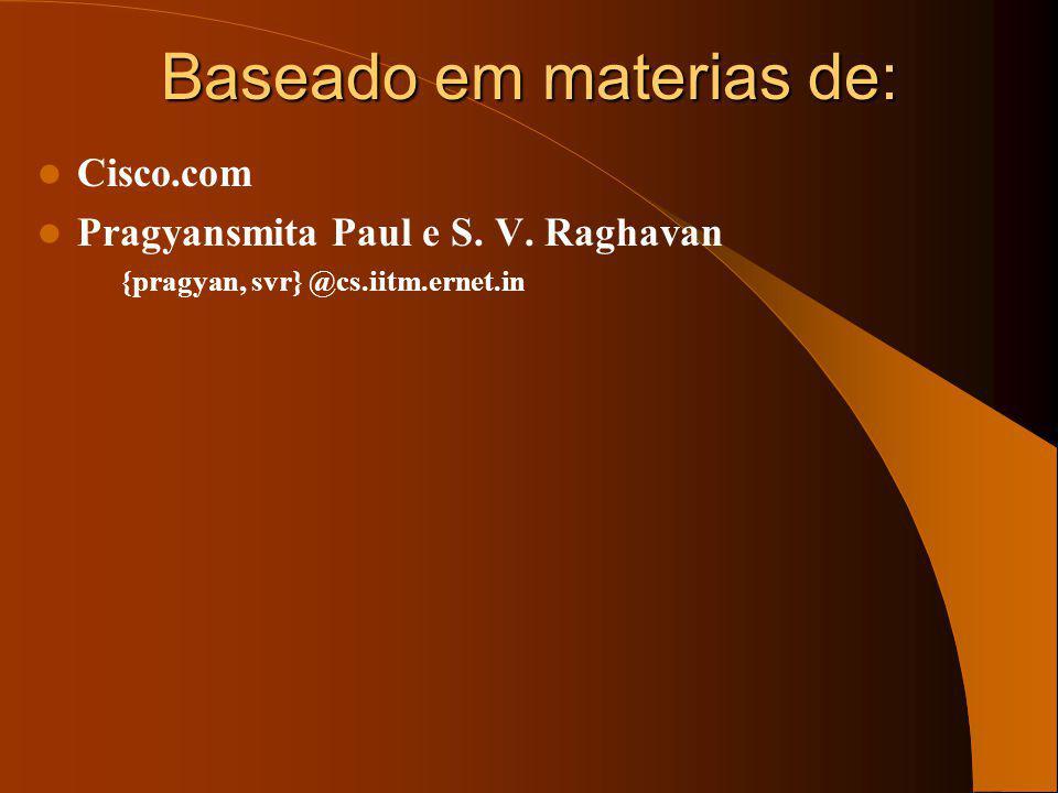 Membership LSAs Area 1Area 2 MABR1MABR2 Area 0 MOSPF - LSAs com filiação MBMB MBMB MAMA MAMA MAMA