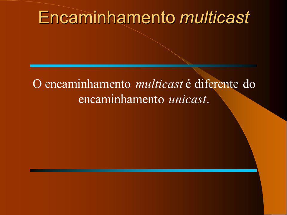 Entrega multicast RPF: Exemplo detalhado de um sucesso RPF: Verificação RPF Ok! Tabela encam. unicast Tabela encam. unicast Network Interface 151.10.0