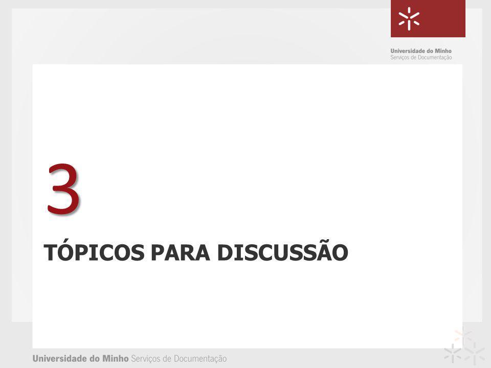 TÓPICOS PARA DISCUSSÃO 3