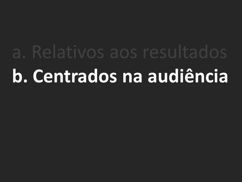 b. Centrados na audiência