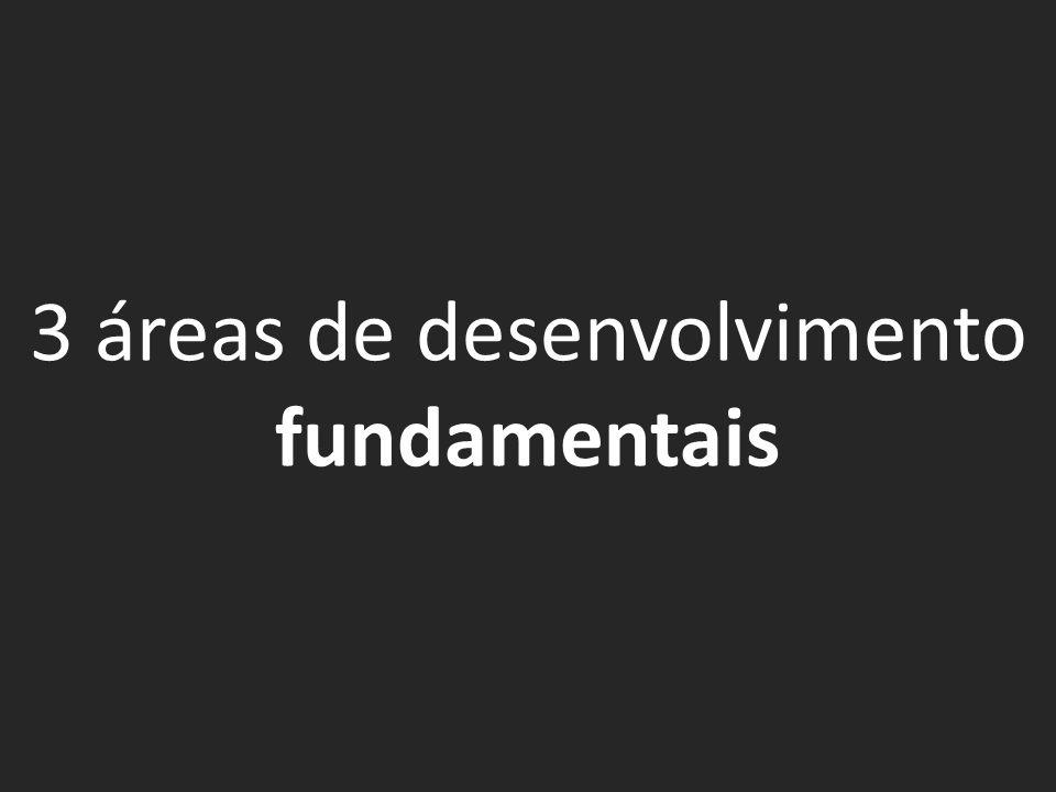 3 áreas de desenvolvimento fundamentais