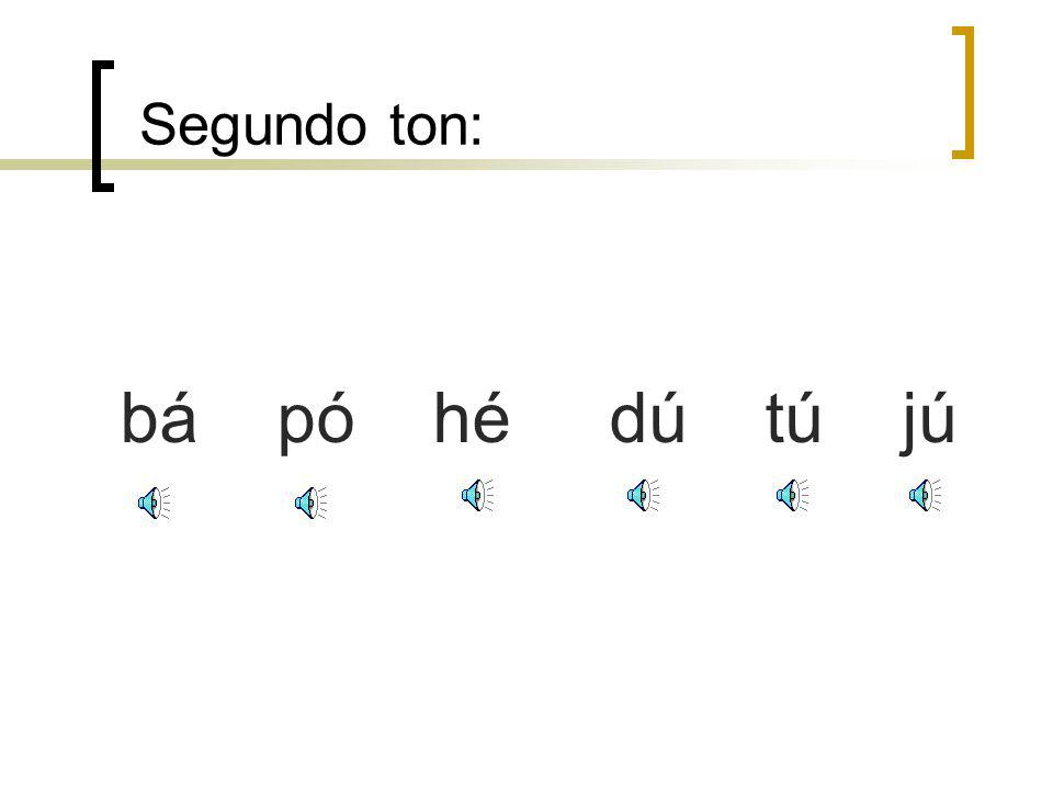 Primeiro ton: ā ō ē ī ū ü