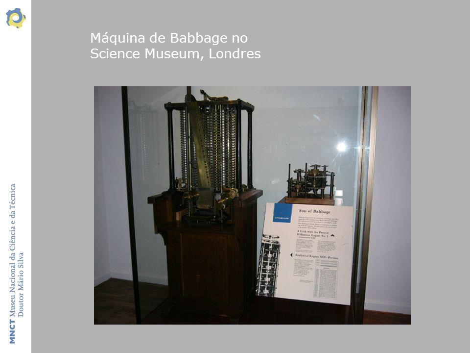 Máquina de Babbage no Science Museum, Londres