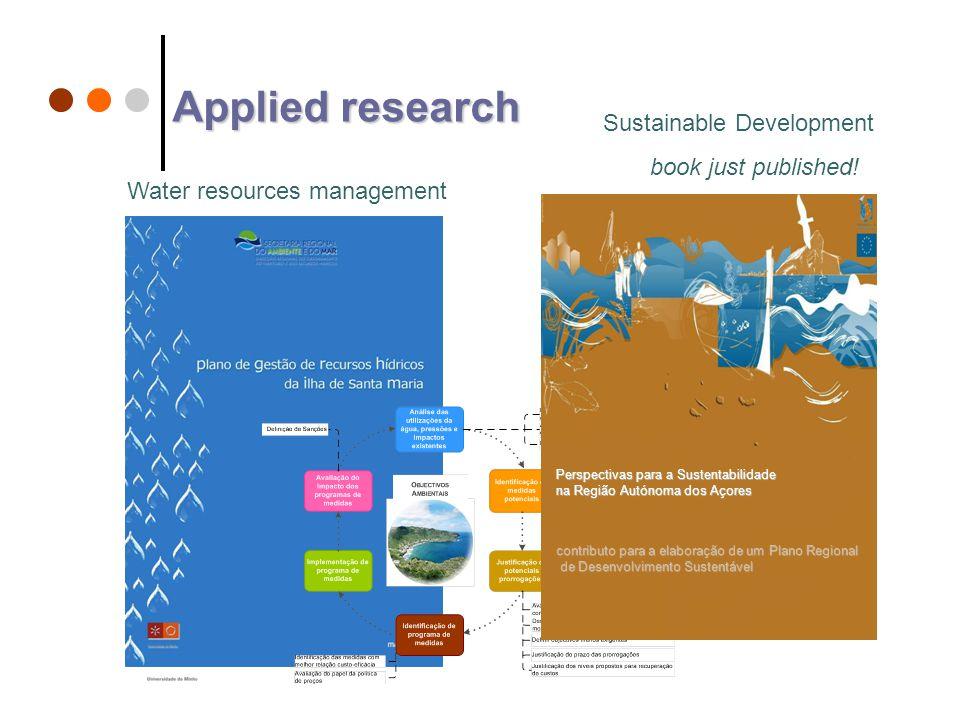 contributo para a elaboração de um Plano Regional de Desenvolvimento Sustentável de Desenvolvimento Sustentável Perspectivas para a Sustentabilidade na Região Autónoma dos Açores Sustainable Development book just published.