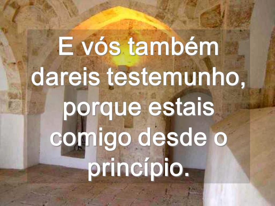 É mais real, que os vossos sonhos Vivei o abraço do PENTECOSTES que Eu vos mando, de junto do Pai.
