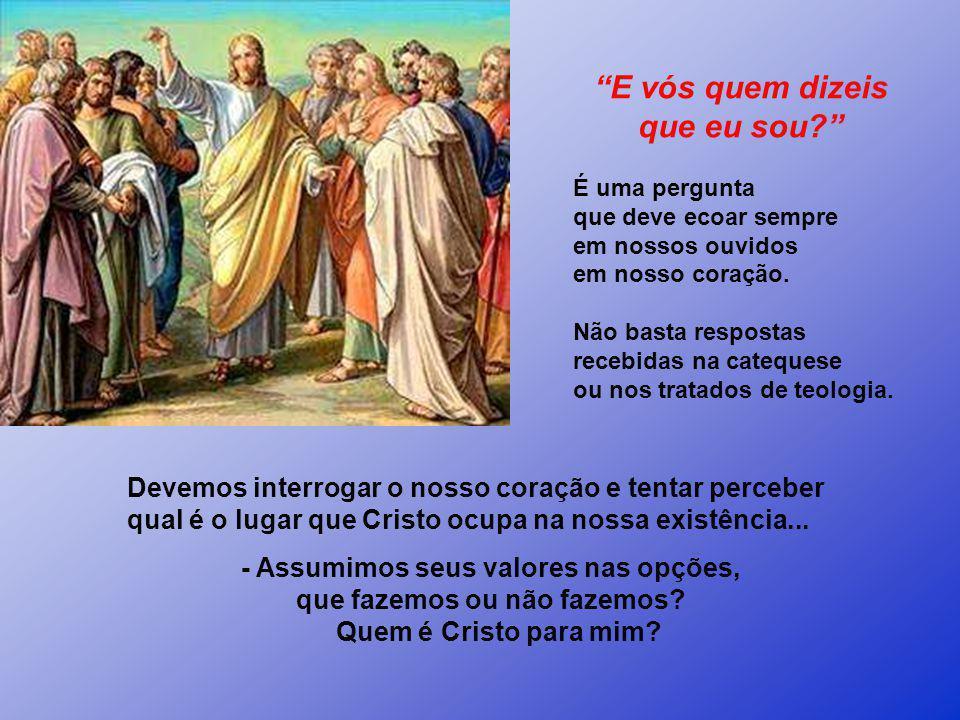 Na opinião dos discípulos Jesus, vai muito além. Pedro resume o sentir da Comunidade na expressão: