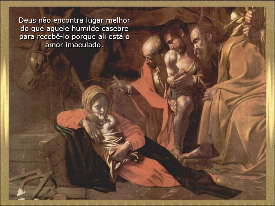 A Virgem e São José, com a sua fé, esperança e caridade saem vitoriosos na prova.. Não existe qualquer rejeição, nem frio nem trevas ou desconforto, q