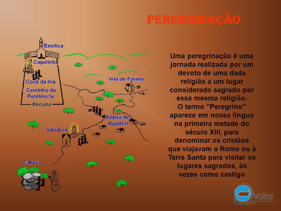 Uma peregrinação é uma jornada realizada por um devoto de uma dada religião a um lugar considerado sagrado por essa mesma religião.
