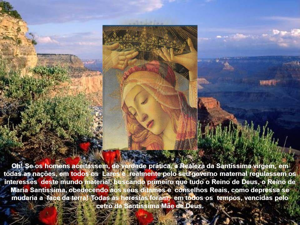 Efetivamente as prerrogativas de Jesus Cristo tem todas os seus reflexos na Santíssima Virgem, Sua Mãe admirável: Assim Jesus Cristo é o Autor da graç