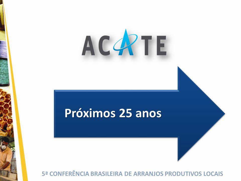 5ª CONFERÊNCIA BRASILEIRA DE ARRANJOS PRODUTIVOS LOCAIS Próximos 25 anos