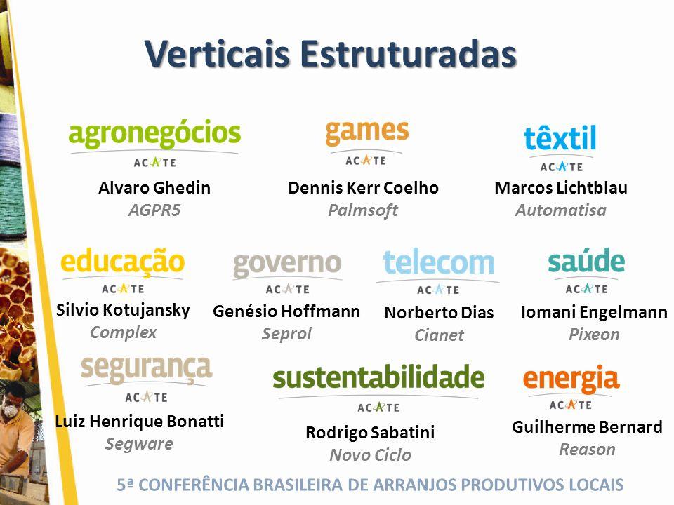 5ª CONFERÊNCIA BRASILEIRA DE ARRANJOS PRODUTIVOS LOCAIS Verticais Estruturadas Luiz Henrique Bonatti Segware Guilherme Bernard Reason Iomani Engelmann