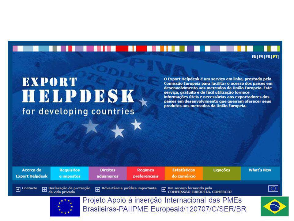 Projeto Apoio à inserção Internacional das PMEs Brasileiras-PAIIPME Europeaid/120707/C/SER/BR